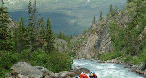 rafting on Tutshi River