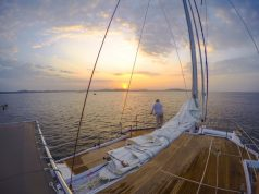 Sri-Lanka-Sailboat-Front-Deck-Sunset