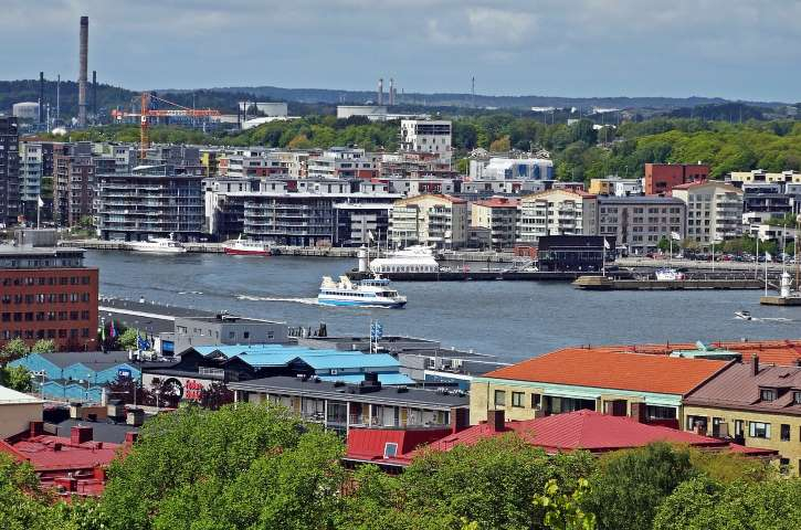 Gothenburg,overlooking the harbour,boat,big city,free pictures ...