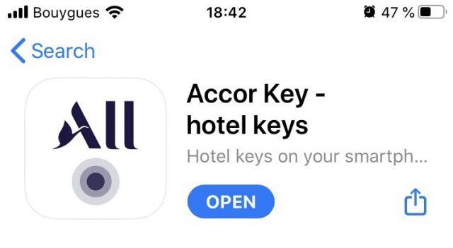 accor hotel key app