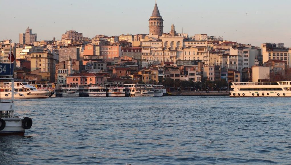 Istanbul skyline from the water