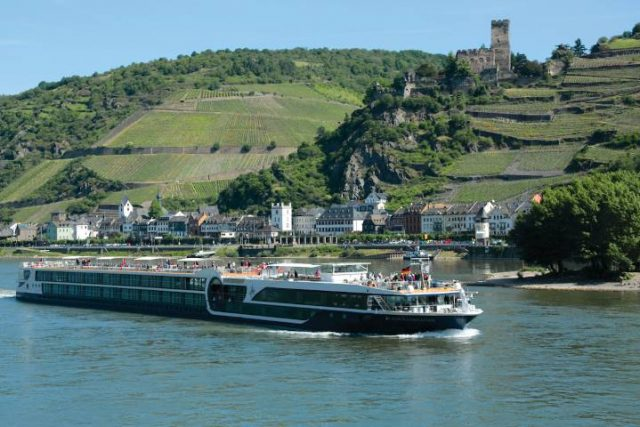 Avalon river cruise boat on the Rhine River