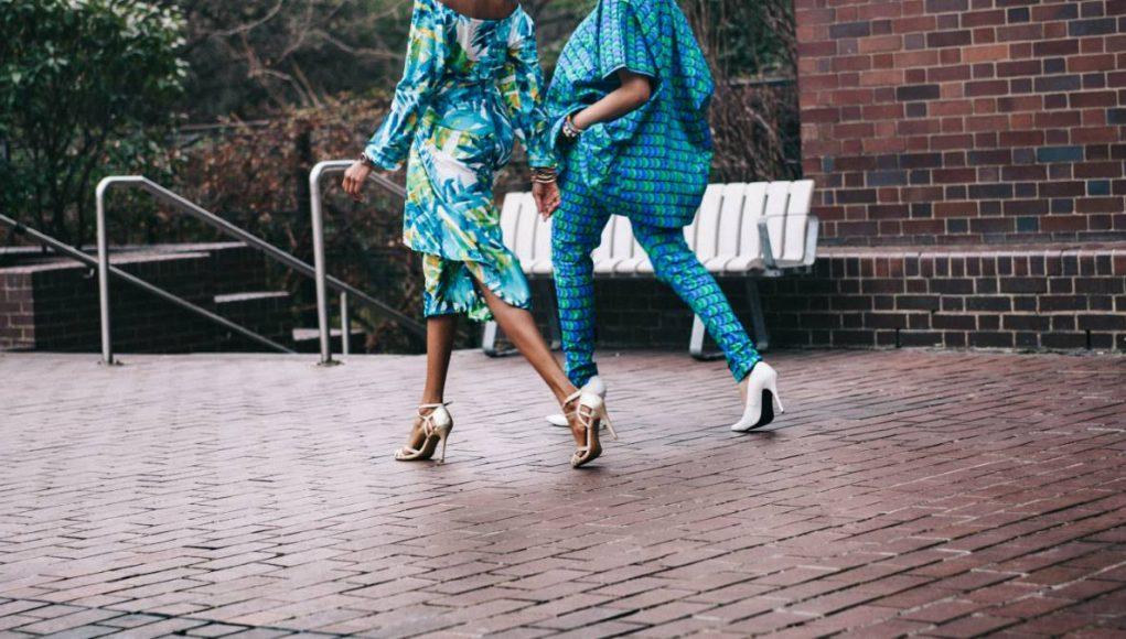 girls walking in comfy stylish clothing