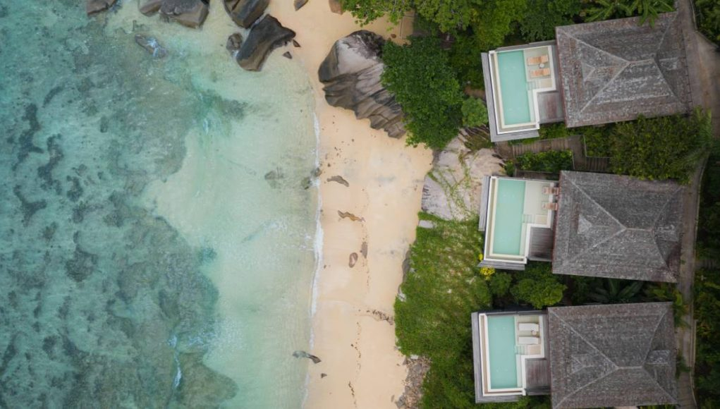 looking down on the seychelles hilton