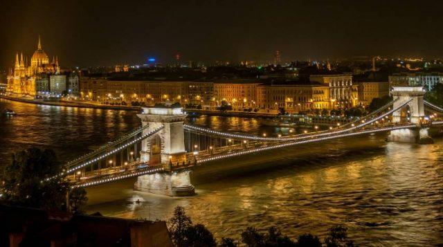 Bridge River City City Lights Chain Bridge