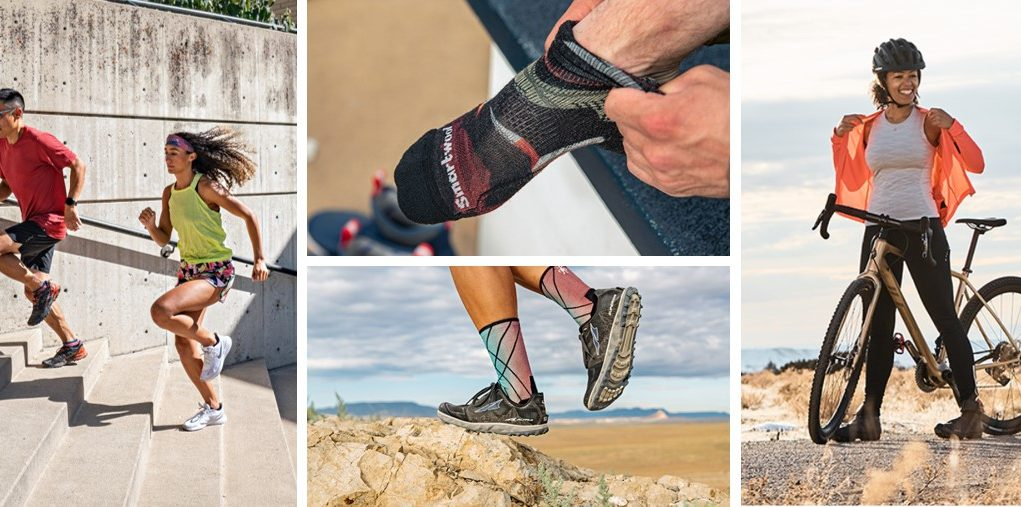 smart wool socks for hilking cycling and running
