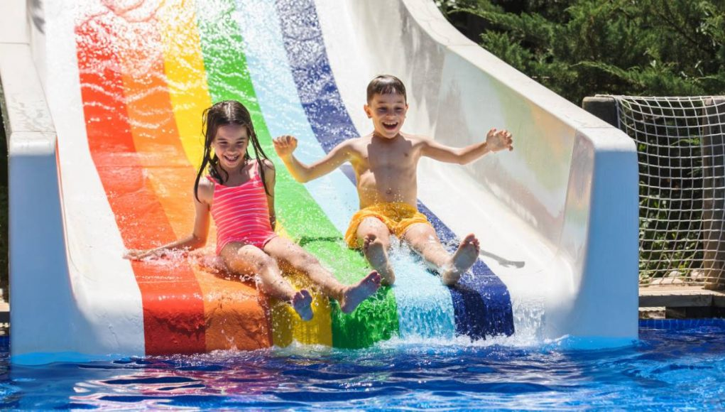 kids playing in a water park at a Luxury Turkish Resort