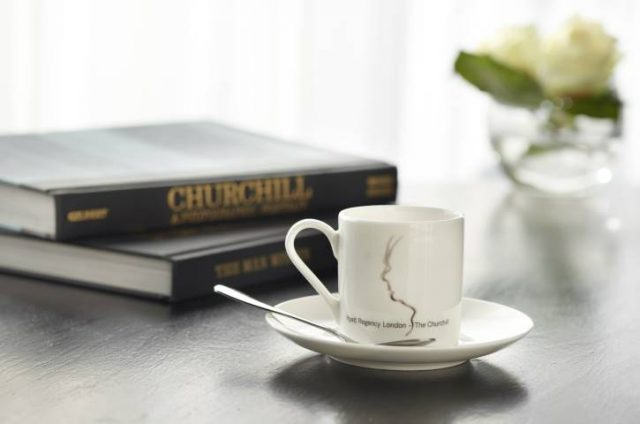 coffe cup form the Hyatt Regency London - The Churchill London