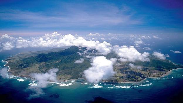 the island of nevis from the air