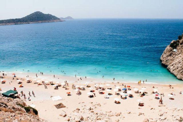 people on a beach in Turkeyy