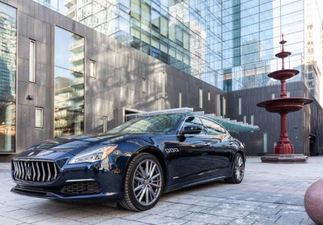 Maserati car in front of four Seasons Toronto