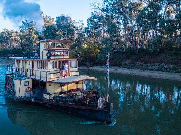 houseboat on the Murry river, NSW Australia