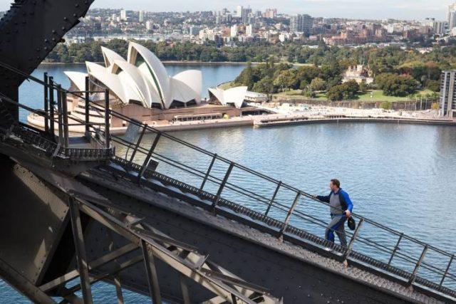 Sydney harbour for the bridge walk